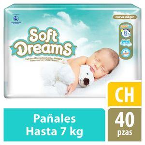 Soft Dreams Pañales para Bebé Etapa 2 Talla Ch 40 Piezas