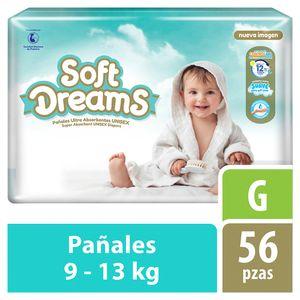 Soft Dreams Pañales para Bebé Etapa 4 Talla G 56 Piezas