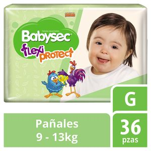 Babysec Flexi Protect Pañales para Bebé Etapa 4 Talla G 36 Piezas