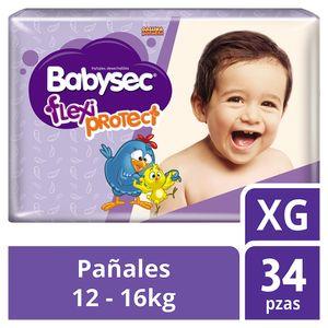 Babysec Flexi Protect Pañales para Bebé Etapa 5 Talla XG 34 Piezas