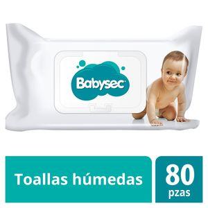 Toalla Húmeda Babysec Única 80 Piezas